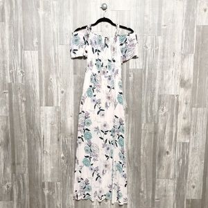 {One Clothing} Floral Maxi Dress